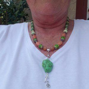 Mixed Gemstone Beaded Necklace